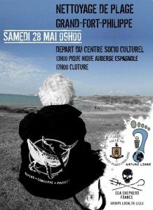 Affiche nettoyage Grand-Fort-Philippe 28.05.2016